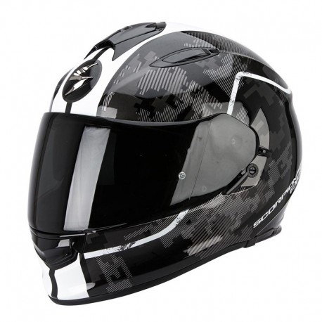CASCO SCORPION EXO 510 GUARD BLANCO NEGRO