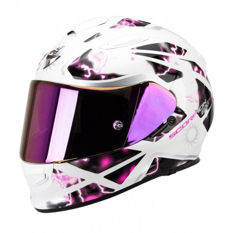 CASCO SCORPION EXO 510 XENA BLANCO ROSA