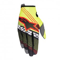 GUANTES ALPINESTARS YOUTH RADAR TRACKER 2017 AMARILLO FLUOR NEGRO