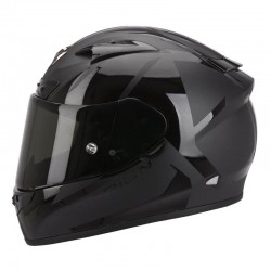 CASCO SCORPION EXO 710 SPIRIT NEGRO MATE NEGRO BRILLO