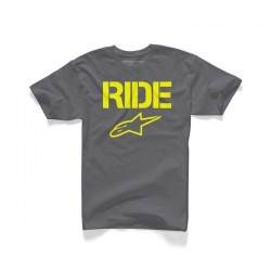 CAMISETA ALPINESTARS RIDE SOLID GRIS AMARILLO