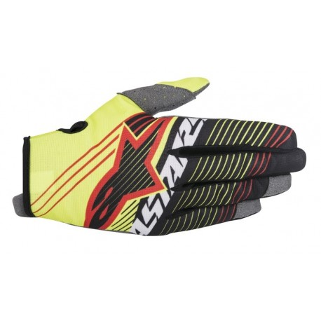 GUANTES ALPINESTARS YOUTH RADAR TRACKER AMARILLO FLUOR NEGRO