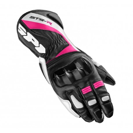 GUANTES SPIDI STS-R LADY NEGRO ROSA