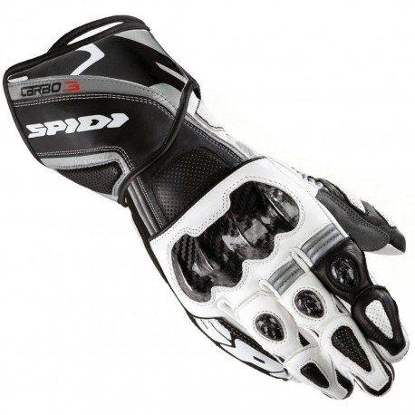 GUANTES SPIDI CARBO 3 NEGRO BLANCO