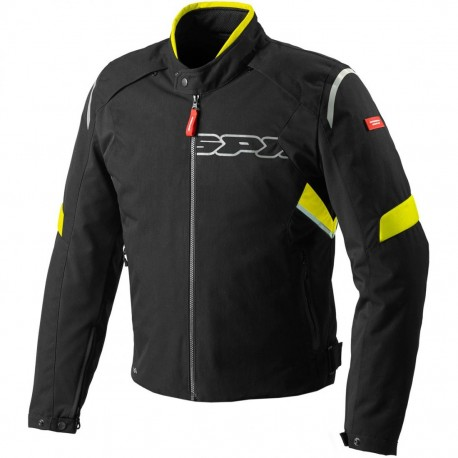 CHAQUETA SPIDI FLASH H2OUT NEGRO AMARILLO