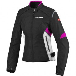 CHAQUETA SPIDI FLASH TEX LADY NEGRO ROSA