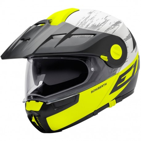 CASCO SCHUBERTH E1 CROSSFIRE AMARILLO FLUOR