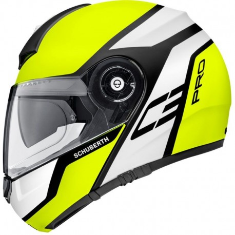 CASCO SCHUBERTH C3 PRO ECHO AMARILLO FLUOR MATE