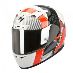 CASCO SCORPION 710 CRYSTAL NEGR ROJO FLUOR