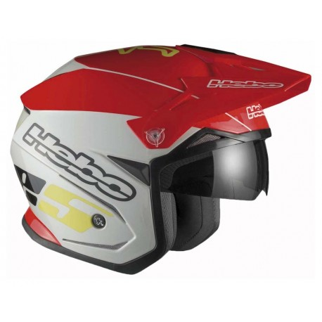 CASCO HEBO TRIAL ZONE 5 ROJO