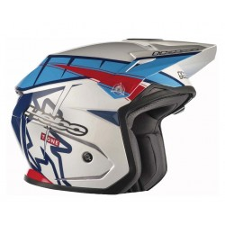 CASCO HEBO TRIAL T-ONE ZONE 5 BLANCO