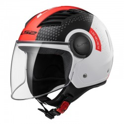 CASCO LS2 OF562 AIRFLOW CONDOR BLANCO NEGRO ROJO