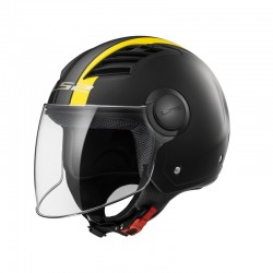 CASCO LS2 OF562 AIRFLOW METROPOLIS NEGRO MATE AMARILLO