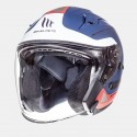 CASCO MT AVENUE SV CROSSROAD AZUL BLANCO ROJO MATE