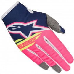 GUANTES ALPINESTARS YOUTH RADAR FLIGHT AZUL ROSA BLANCO