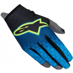 GUANTES ALPINESTARS YOUTH RADAR FLIGHT NEGRO AZUL AMARILLO FLUOR