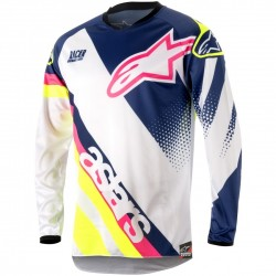 JERSEY ALPINESTARS YOUTH RACER SUPERMATIC BLANCO AZUL AMARILLO FLUOR