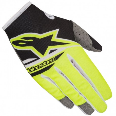 GUANTES ALPINESTARS RADAR FLIGHT NEGRO AMARILLO FLUOR