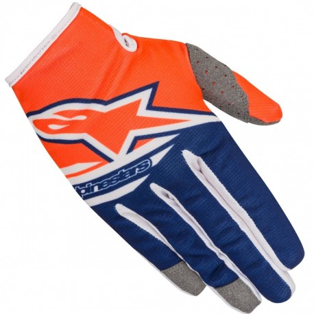 GUANTES ALPINESTARS RADAR FLIGHT NARANJA AZUL BLANCO