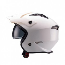 CASCO UNIK TRIAL CT-07 GAFAS BLANCO