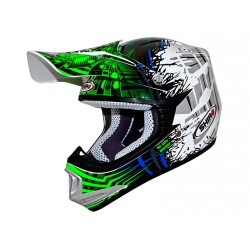 CASCO SHIRO MX306 BRIGADE KID VERDE FLUOR
