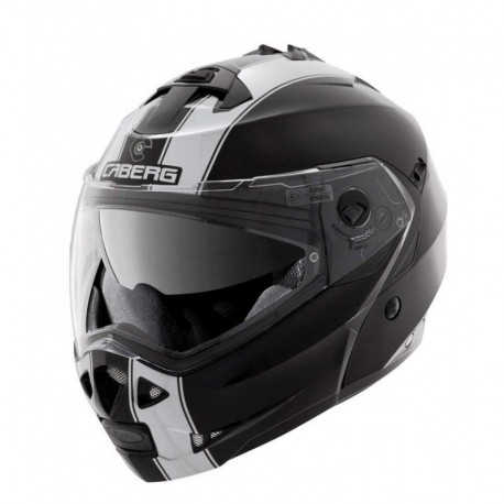 CASCO CABERG DUKE LEGEND MATE NEGRO BLANCO