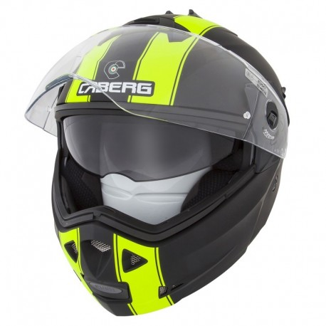 CASCO CABERG DUKE 2 LEGEND NEGRO MATE AMARILLO FLUOR