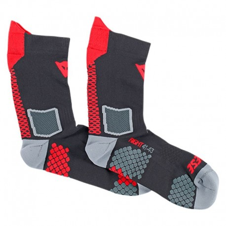 CALCETINES DAINESE D-CORE MID NEGRO ROJO
