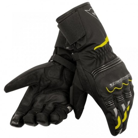 GUANTES DAINESE TEMPEST DDRY LONG NEGRO AMARILLO FLUOR