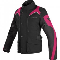 CHAQUETA DAINESE TEMPEST LADY D-DRY NEGRA ROSA