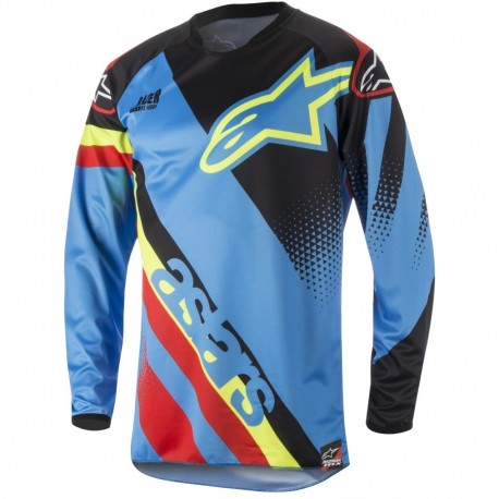 JERSEY ALPINESTARS YOUTH RACER SUPERMATIC AZUL NEGRO ROJO