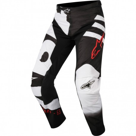 PANTALON YOUTH RACER BRAAP NEGRO BLANCO ROJO
