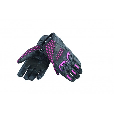 LUVAS DAINESE AIR HERO LADY PRETO ROSA