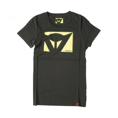 CAMISETA DAINESE COLOR NEW LADY NEGRO AMARILLO FLUOR