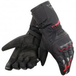 GUANTES DAINESE TEMPEST DDRY LONG NEGRO ROJO