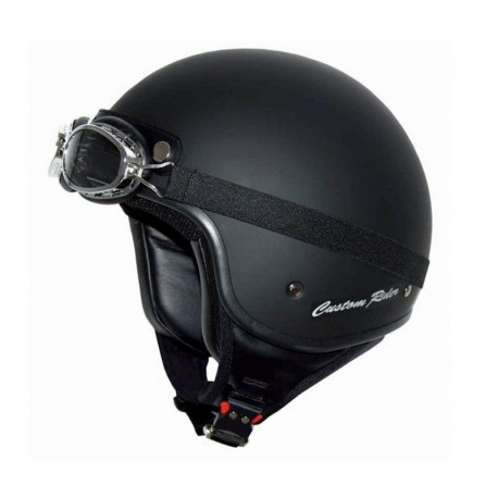 CASCO MT CUSTOM RIDER NEGRO MATE