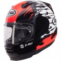 CASCO ARAI REBEL SPLASH BLANCO ROJO