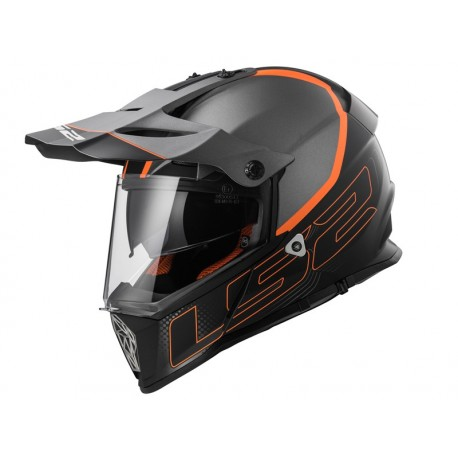 CASCO LS2 MX436 PIONEER ELEMENT NEGRO MATE TITANIO