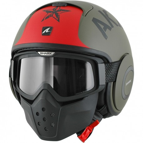 CASCO SHARK RAW SOYOUZ VERDE ROJO