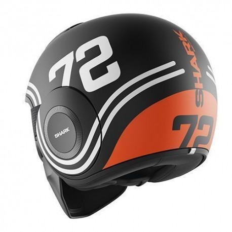 CASCO SHARK RAW 72 NEGRO BLANCO NARANJA