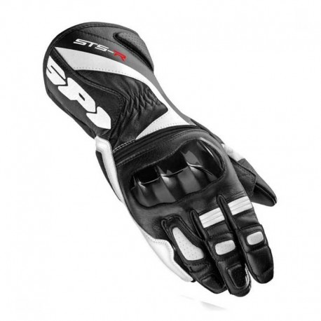 GUANTES SPIDI STS-R LADY NEGRO BLANCO