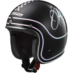CASCO LS2 OF583 RUSTY NEGRO