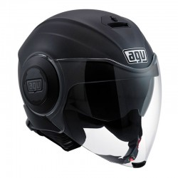 CASCO AGV FLUID NEGRO MATE