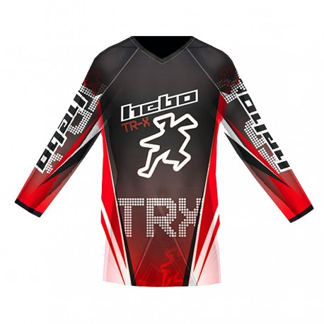 CAMISETA HEBO TRIAL PRO TR-X JUNIOR R