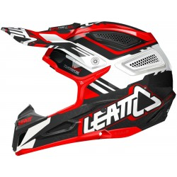 CASCO LEATT GPX 5.5 BLANCO NEGRO ROJO