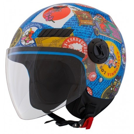 CAPACETE SHIRO SH62 TRAVELSTAMPS KID