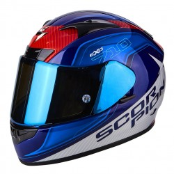 CASCO SCORPION EXO 710 MUGELLO AZUL BLANCO