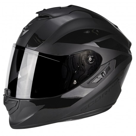 CASCO SCORPION EXO 1400 FREEWAY II NEGRO MATE BRILLO