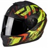 CASCO SCORPION EXO 1400 PICTA NEGRO MATE AMARILLO FLUOR