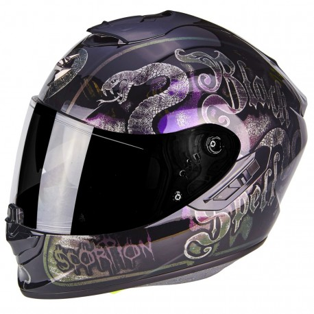 CASCO SCORPION EXO 1400 PICTA GRIS NARANJA MATE